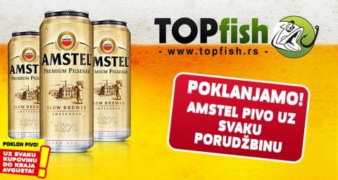 Poklon Amstel pivo uz svaku porudžbinu do kraja avgusta!