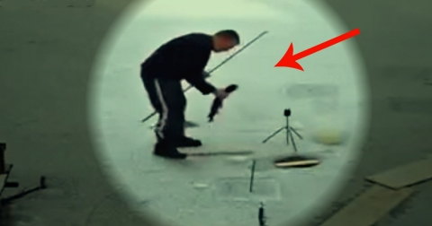 rus pecaros pecanje smesno greska riba stap led