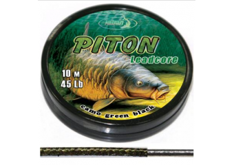 Lead core  PITON  camo green black  10 m
