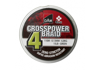 DAM Crosspower 4-Braid green 150m