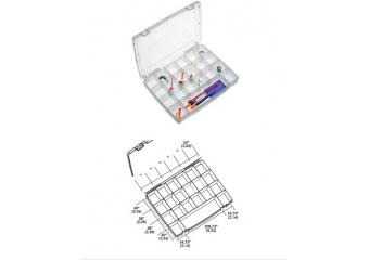 Kutija za pribor 21 pregrada 325x255x52mm