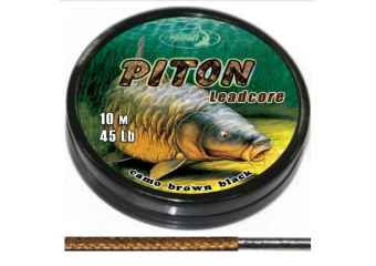 Lead core  PITON  camo brown black  10 m