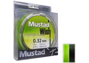 Mustad Wish Braid 250m 0.32mm green
