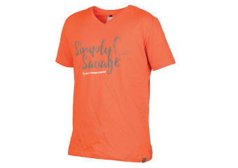 SAVAGE GEAR SIMPLY SAVAGE V-NECK ORANGE TEE