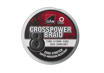 DAM Crosspower 8-Braid dark grey 150m